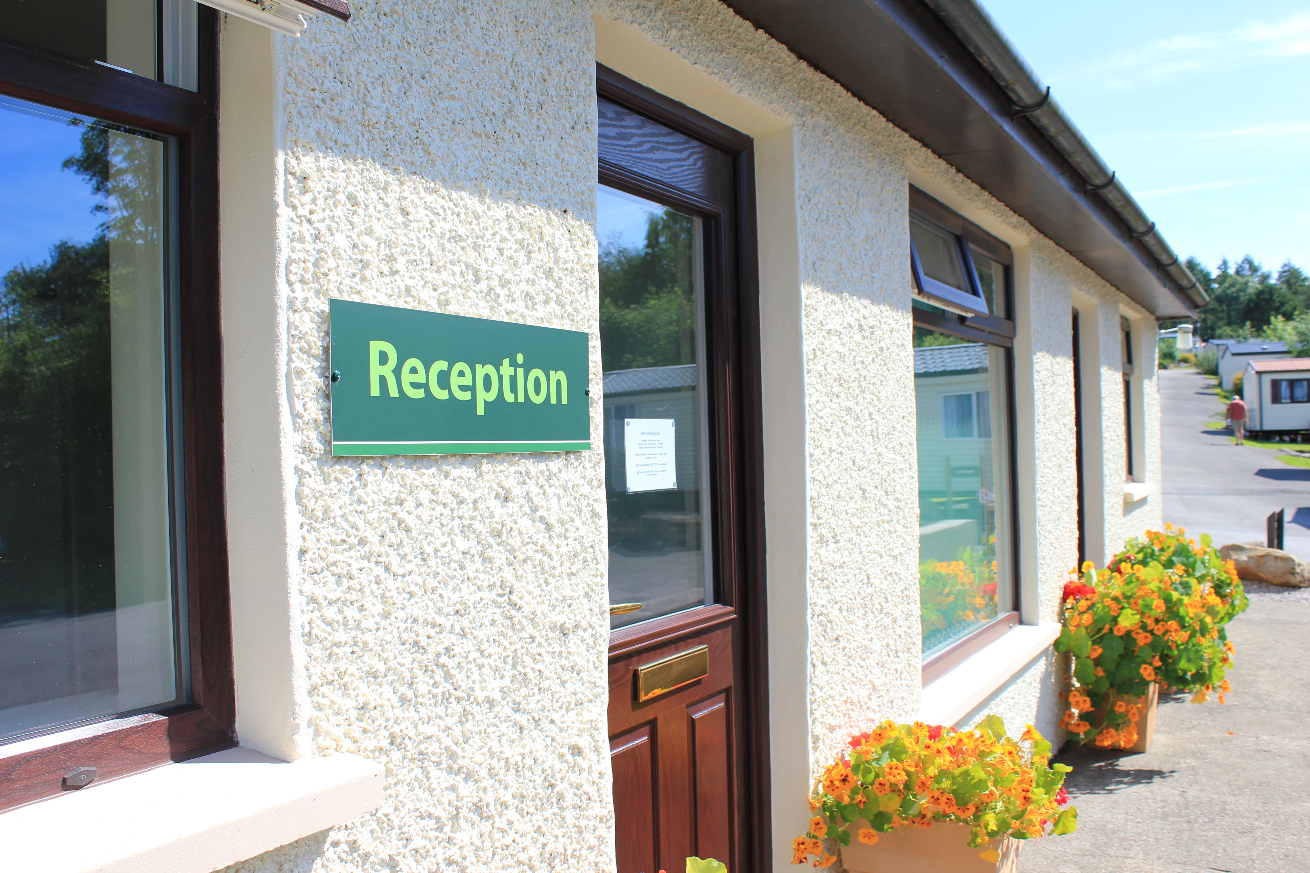 Reception Old Hall Caravan Park