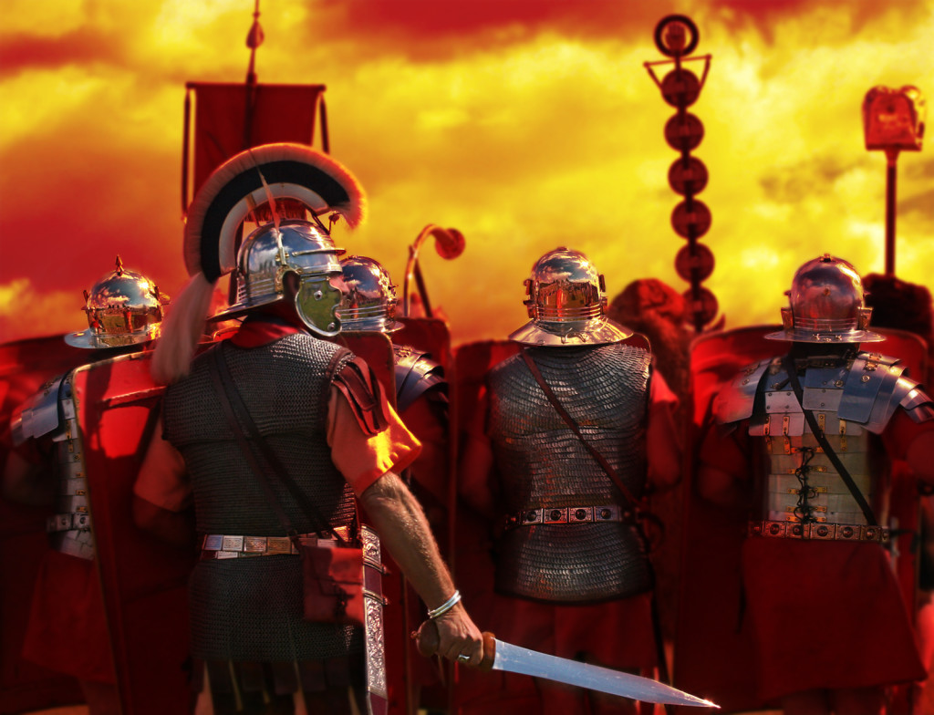 Into The Heat of Battle, from my Roman Army Series