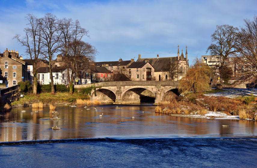 A view of Miller Bridge, Kendal