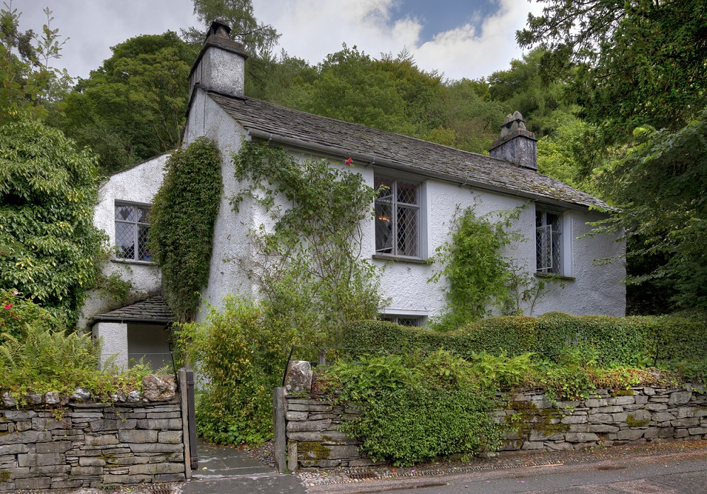 Dove Cottage, the home of poet William Wordsworth. Grasmere, Cumbria, England.
