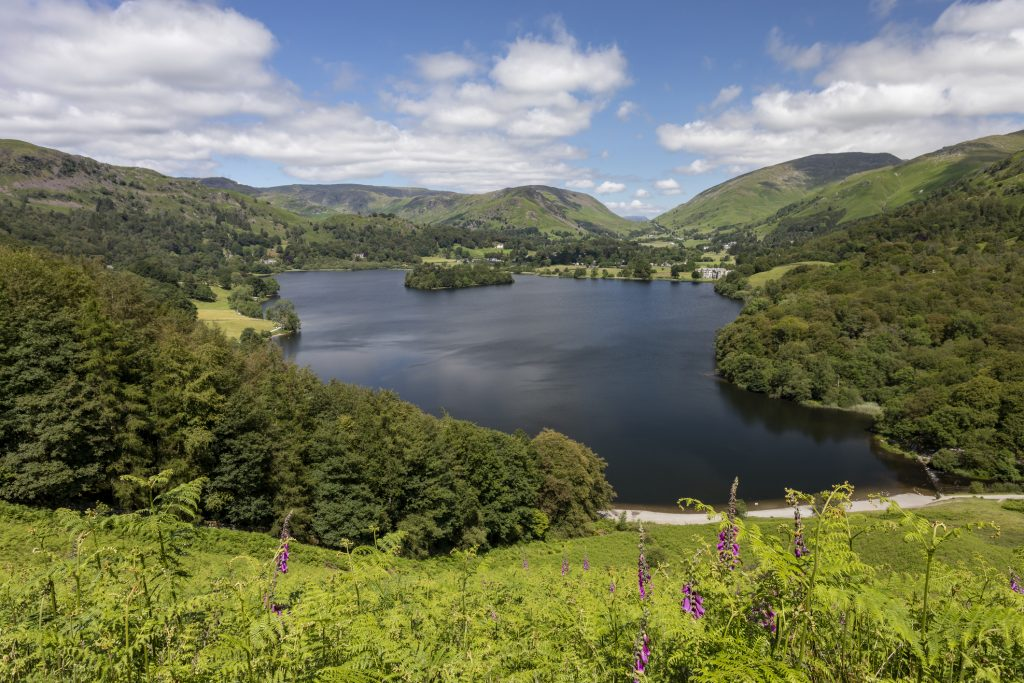Grasmere from Loughrigg Terrace looking towards Helm Crag and Rydal Fell