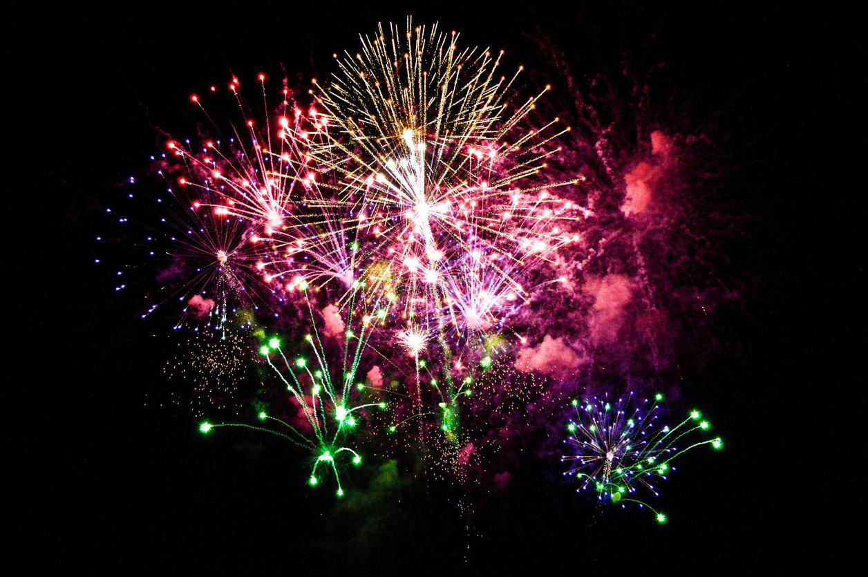 Bonfire night fireworks in Lancashire